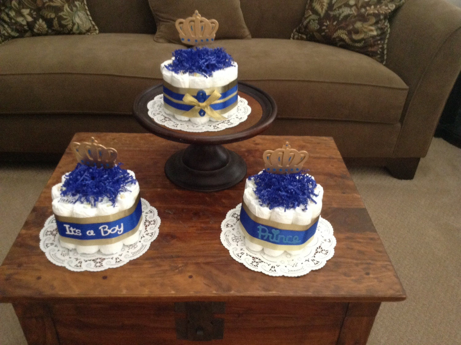 Little Prince Baby Shower Diaper Cakes by ...