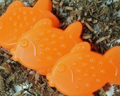 Gold Fish Kid Party Soap, Fish soap, fun kid soap favors for party - 10 big fish soap