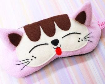 FREE SHIPPING! Kawaii Sleeping Eye Mask - Kimmi the Pink Kitty