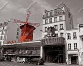 Color Splash Moulin Rouge Cabaret Montmartre Paris France Fine Art Photography Photo Print