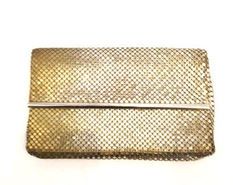 Vintage clutch art Deco clutch silver clutch Evening clutch Small clutch whiting & davis clutch Mesh Clutch Wallet Purse coinpurse chainmail