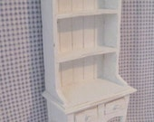 Dollhouse Kitchen Hutch or Dresser Tatty chic hutch white dresser twelfth scale dollhouse miniature