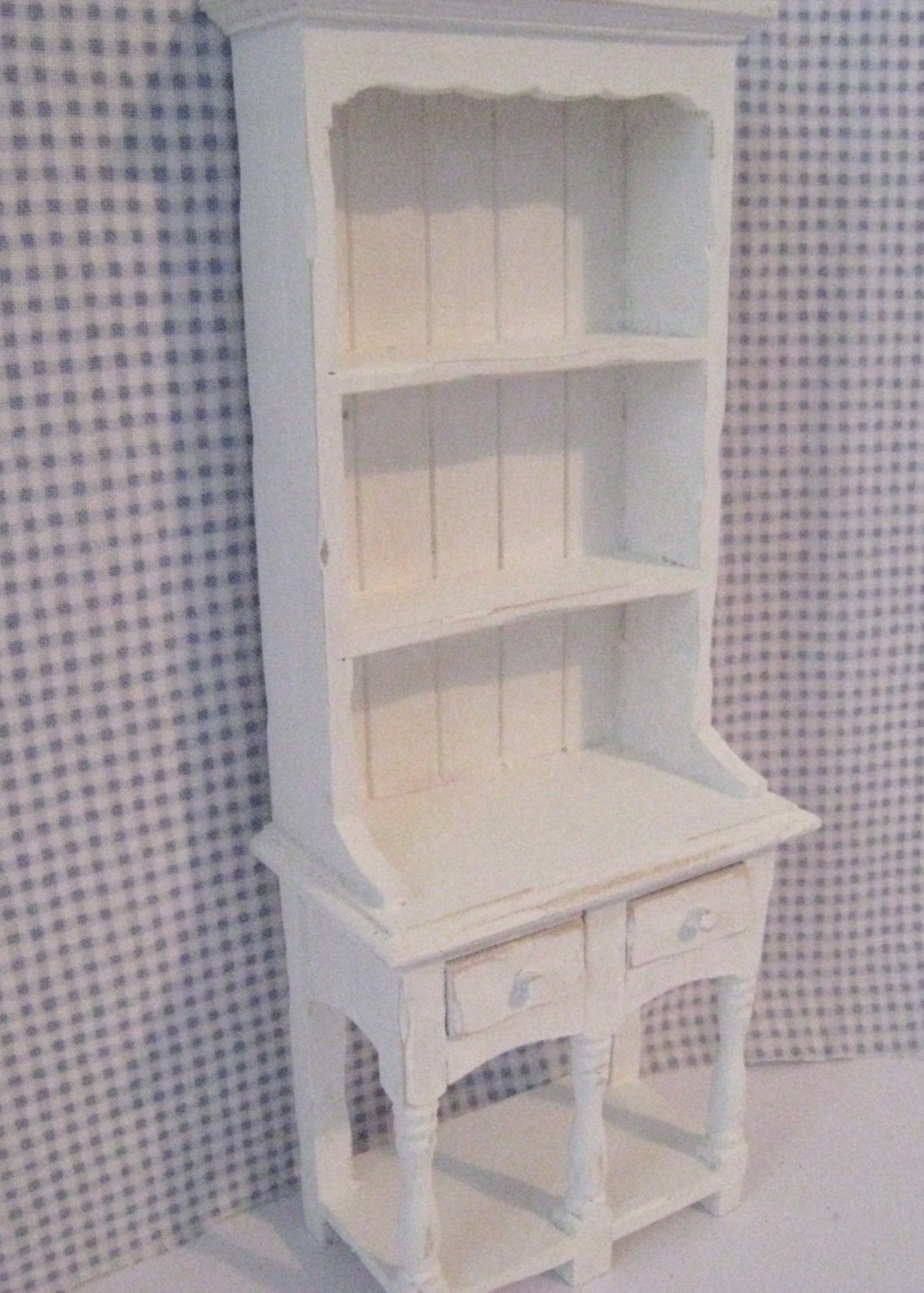 White Kitchen Hutch dollhouse kitchen hutch or dresser tatty chic hutch white