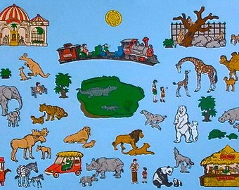 Zoo Friends Felt Board Set -- TONS of animals