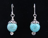 Turquoise and Silver Earr...
