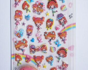 Kawaii Japanese Stickers - Cute Girls - (75031)