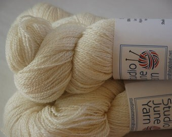 Studio June Yarn Silky Blue Lace (Silk/BFL) - Natural