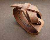 Safari Taupe Leather Cuff / Bracelet