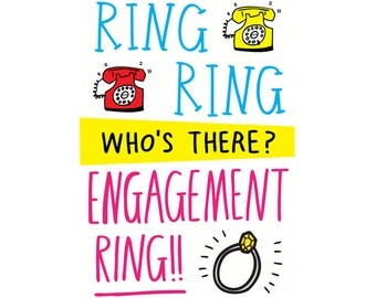 Engagement Card - Ring Ring Who's There Engagement Ring