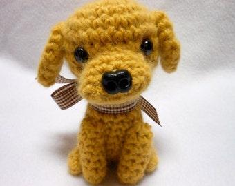 Yellow Labrador Retriever Crochet Dog, Amigurumi, Canine, Stuffed Dog, Yellow Lab, Stuffed Animal, Dog Lover