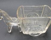Depression Glass Burro Cart Mule Donkey for Toothpicks Sugar Caddy