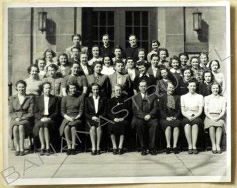 1940s to 1950s Vintage Large photograph. University of Toronto Schools / UTS