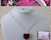 My Love Swarovski and Heart Necklace