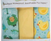 Babyville Boutique Waterproof PUL Fabric, Ducks & Pond, Polyurethane Laminated Fabric, Diaper Fabric, Bib Fabric