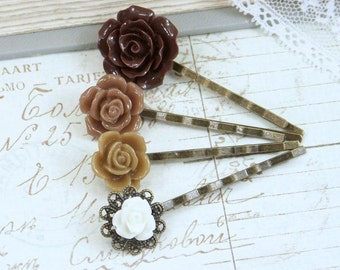 Floral Hair Pin Flower Bobby Pins Flower Hair Accessories Bobby Pin Sets Victorian Hair Pins Vintage Style