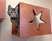 Decorative Cat Wall Perch - Cat Wall Art - Cat Sihloutte - Cat Furniture - Cat Shelf - Cat Bed - Cat Wall Shelves - Modern Cat Furniture