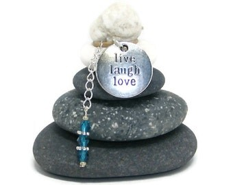 Live Laugh Love Rock Cairn, Zen, Spiritual Small Gift, Wishing Stones, Hope, Believe, Balance, Enjoy, Desk Gift