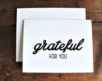 Grateful for You - Thank You Greeting Card