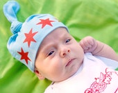 Chicago Flag Baby Hat- One Size Fits Most