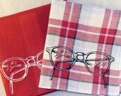 Eyeglasses Handkerchiefs, 2 Silk-Screened Sneezy Sheets