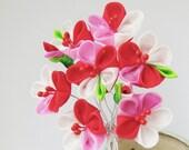 Plum  Blossom Tsumami Kanzashi Silk Flowers
