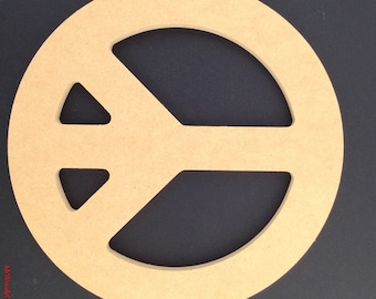 "16"" Unfinished Peace Sign made out of 1/2 inch MDF. A"