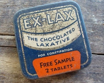 Antique Medical Tin Chocolated Laxative