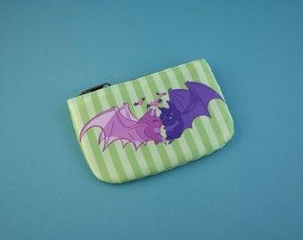 Kissing Bats Coin Purse