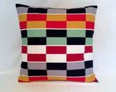 Pillow Red,Yellow ,Black,Green,Gray and White Geometric from Ikea