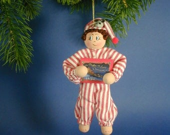 Nighttime Ned Clothespin Ornament; Night Before Christmas Ornament;