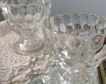 Vintage AVON Bubble Glass Compote Glass or Goblets