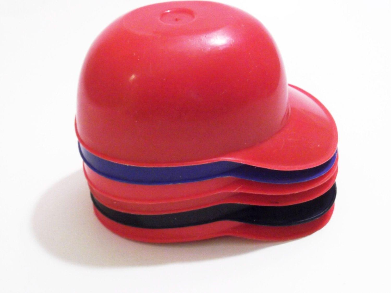 Mini Plastic Baseball Helmet Cap Ice Cream Dishes Laich 1980s