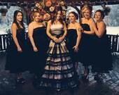 Bridesmaids Dress For Designer Inspired Black And White Gothic Wedding Dress