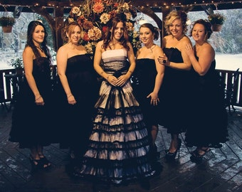 Bridesmaids Dress For Designer Inspired Black And White Gothic Wedding Dress