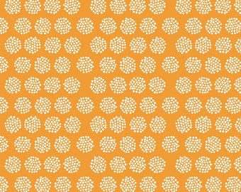 SUMMER SALE - Good Natured - Fireflies in Orange - Sku C4082 - 1 Yard - by Marin Sutton for Riley Blake Designs