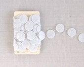 Parchment White Garland // Felt // 4 yards
