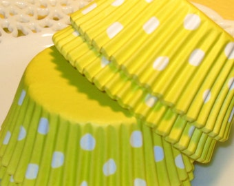 Yellow Polka Dot Staybright Cupcake Liners  (Qty 45)