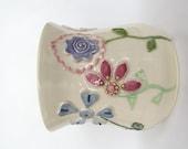 Flower Garden 3D Art Pottery Utensil Holder