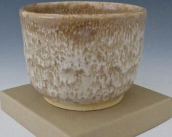 Golden Brown. Tan. Taupe. Honey. Sand. White. Earthtone. Speckled. Gloss. Ramikin #6