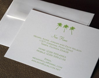 Palm Tree Design - Moving Announcement, New Home, New House