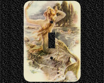 Edwardian Mermaid Switch Plate Covers Toggle/Rocker/Outlet