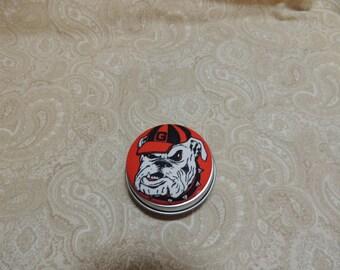 Georgia Bulldogs Tooth Fairy Box, Trinket Box, Pill Box