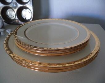 6 Vintage Crooksville Plates