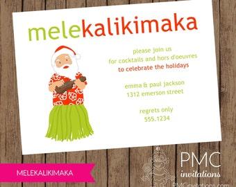 Melekalikimaka Holiday Christmas Invitation - 1.00 each with envelope