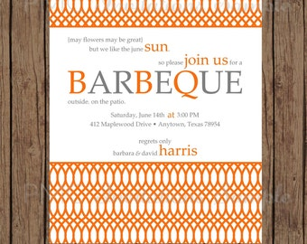 Custom Printed Summer Soiree Invitations - 1.00 each with envelope