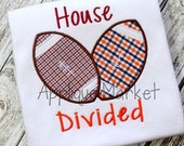 Machine Embroidery Design Applique Football House Divided INSTANT DOWNLOAD