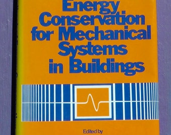 Vintage retro 1978 Handbook Of Energy Conservation For Mechanical Systems In Buildings conservationist green tech design first edition book