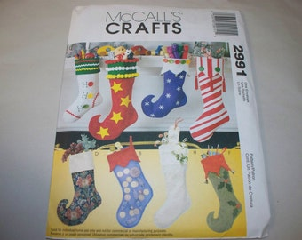 New McCall's Christmas Stockings Pattern 2991  (Free US Shipping)