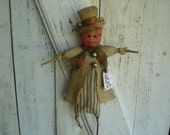 Jack-O  Lantern Doll Dpor Greeter, Primitive, Rustic, Halloween, Fall, Primitive Halloween Doll, Ofg, Faap, Hafair, Dub