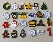 Set of 24 Christmas Lace Miniature Advent Ornaments